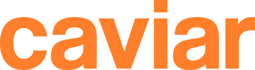 Caviar Orange Wordmark